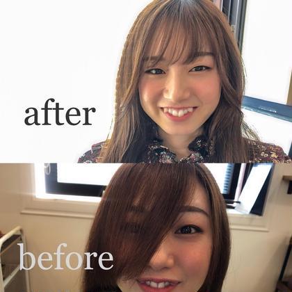 前髪カット(簡単なコテ巻き付き♩)