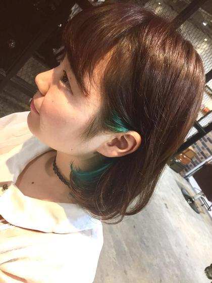カラー ショート inner color✨耳掛けstyle✨