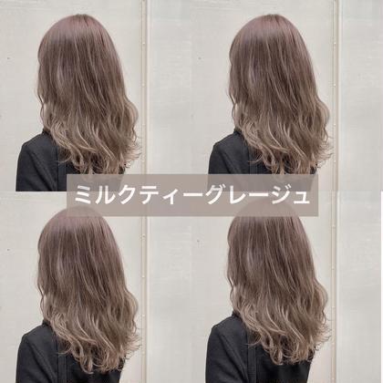 話題のケアブリーチ✨【❤️ダメージ94%カット❤️】ケアブリーチ&カラー& 髪質改善トリートメント&カラーシャンプー付き