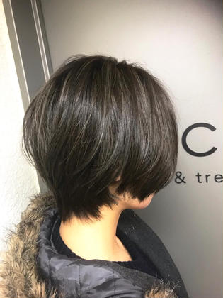 カラー ショート short bob / highlight / greige✂︎