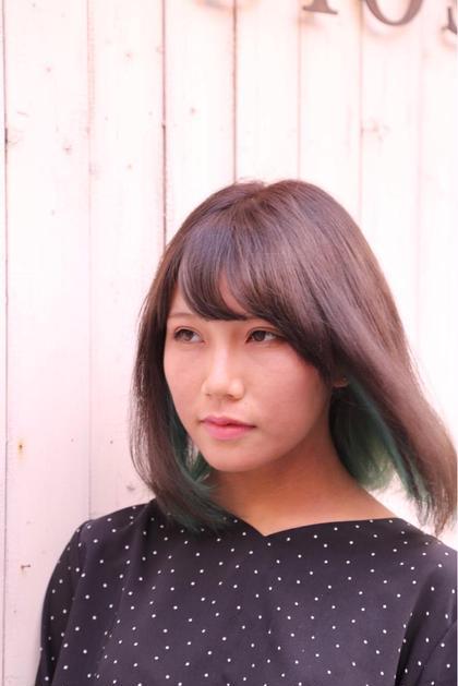 👑カット+94%ダメージオフ☆インナーカラー(ポイントブリーチ)+オンカラー+他の部分のフルカラー&トリートメント