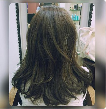 暗めのアッシュご希望のモデルさん♪ とても、気に入っていただけました(*^^*) カラーされたい方ご連絡くださいっ!!! Hair space COCO SHIBUYA所属・TOYODASAARAのスタイル