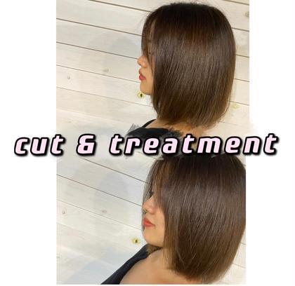 【🎀デビュー目前🎀期間限定クーポン💭】✂️ cut + treatment  ✂️  ¥4.400→¥500 💫