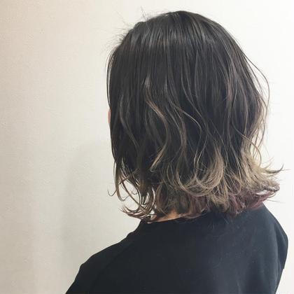 ハイライトを入れたグラデーションカラー  ブロッサム池袋店所属・藤田大基のスタイル