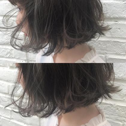 髪の毛をこれ以上痛ませたくない。  イルミナカラー。  ダメージレスなのにこの透明感。 井町真人のヘアスタイル・ヘアカタログ