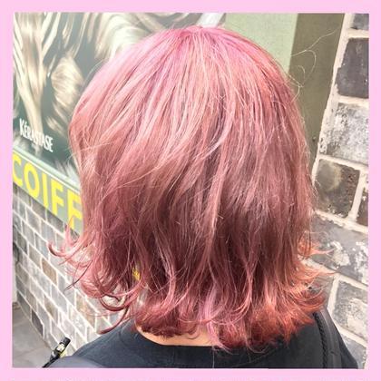 #パリスピンク #ピンク #LARME #可愛い #ヘアアレンジ  mimii所属・❤️ピンクカラー❤️【SHIN】のスタイル