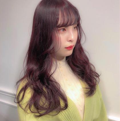 💝トレンド🥀前髪+顔周りカット+カラー(ブリーチなし)