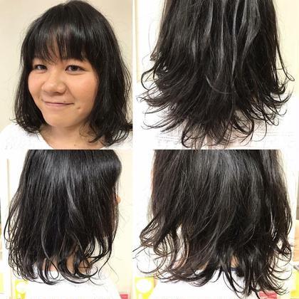 毛先パーマに見えますが、クセ毛を生かしてます!  しっかりと髪の中に栄養を入れてツヤ美髪スタイルへ! 美容室Stella所属・湘美職人横田 尚登のスタイル