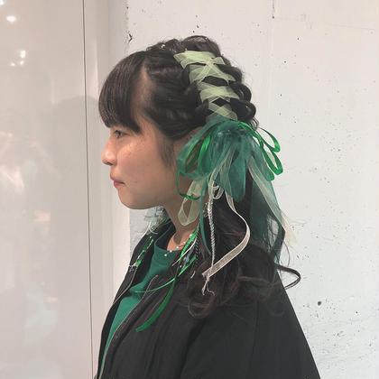 菅原由香梨のヘアアレンジ