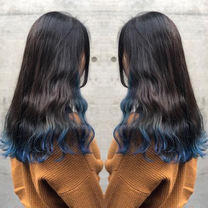その他 カラー ロング ブルーグラデーションカラー🌀青髪