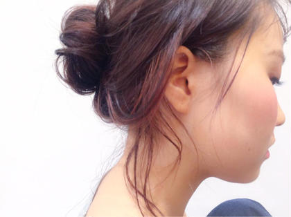 ラベンダーピンクに ハイライトで薄めのピンクをオン G∀ME所属・副店長上野龍乃助のスタイル
