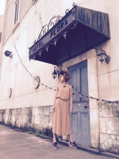 アップスタイル☆ しっかり巻いた後にヘアセット  名古屋市内の屋外で撮影しました(*^^*) ENLIED所属・吉岡隆次のスタイル