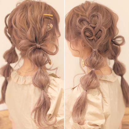 可愛くヘアアレンジインスタ映えヘアセット