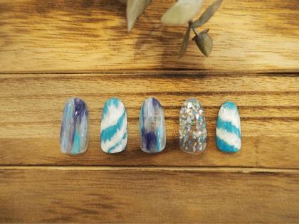 波のような夏デザイン auliieyelash&nails所属・カシワギユリナのフォト