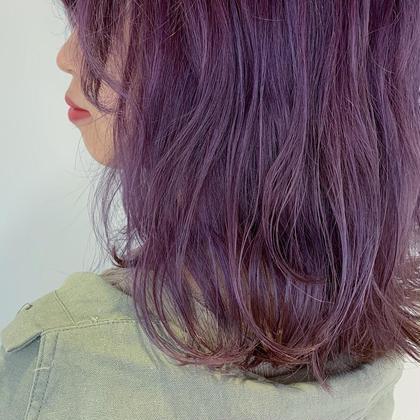 ラベンダーカラー▽ 色落ちも綺麗です▽ フリーランス美容師所属・豊浦翔太のスタイル