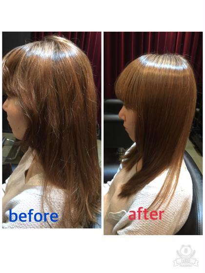 【7月限定】ヘアケアマイスターが行う髪質改善コース☆縮毛矯正×極上のtokioトリートメント、カット
