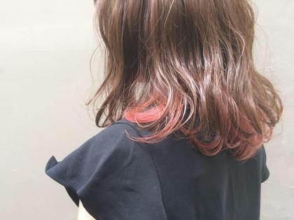 Wカラーインナーピンク✨ Hair Make Ash所属・大山晃介のスタイル