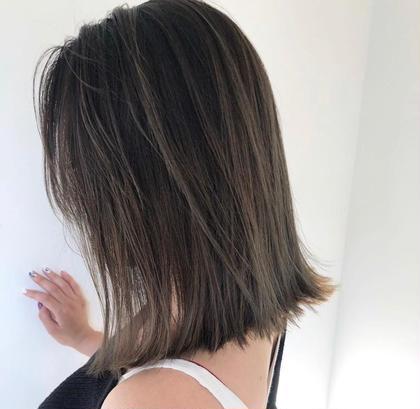 🍂🍂極細ハイライトで、髪の毛を痛ませず透明感カラーに。