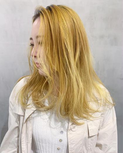 黄檗 山崎優作のセミロングのヘアスタイル