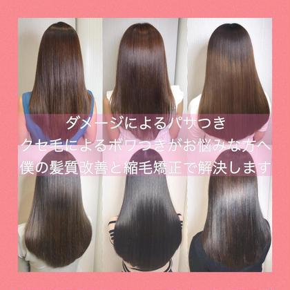 【クセが弱い方用】髪に優しい縮毛矯正➕韓国最新カット➕ TOKIOトリートメント