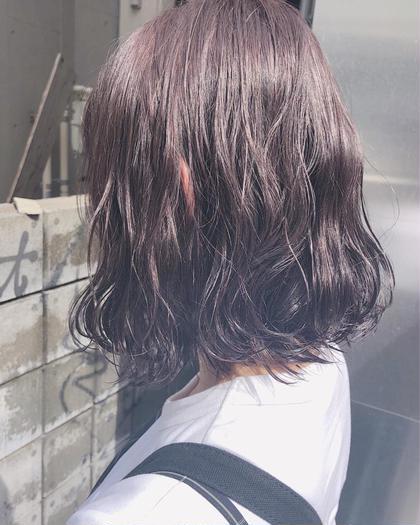 その他 ヘアアレンジ ミディアム ブリーチなしでも透明感あるカラーに(^^)