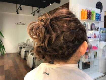 編み込みとサイドUP! hair design sCene本店所属・前田優のスタイル