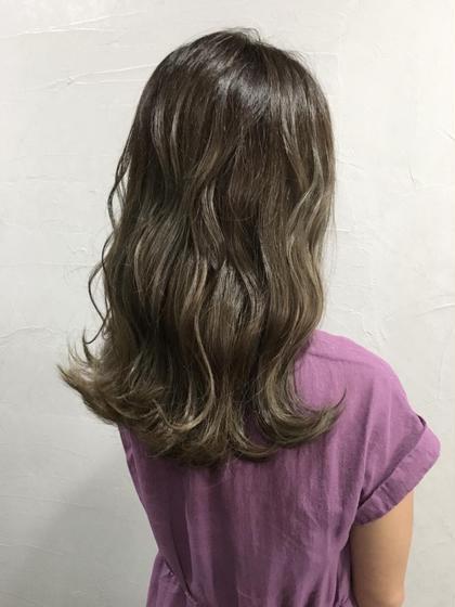 毛先カット&トレンドカラー&髪質改善調合トリートメント&簡単巻き方講座コース
