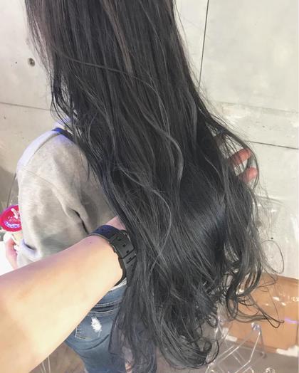 グレーグラデーション⭐️ オクリコウダイのロングのヘアスタイル