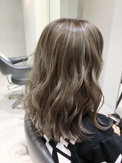 【*55%オフ⭐️なりたい髪の毛に】ハイライト+カラー