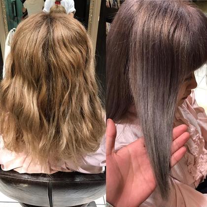 ブリーチを重ねた髪も綺麗なパールカラーに!! 夏が近づいてきているので、ブリーチオンカラーであなただけの色を一緒に考えて行きましょう! miq所属・瀬谷凌のスタイル