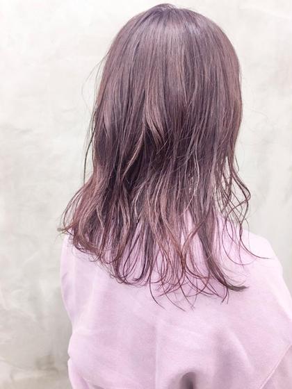 カラー ピンクパープル💘ブリーチ必須!! #ダブルカラー#ハイトーン#ロング