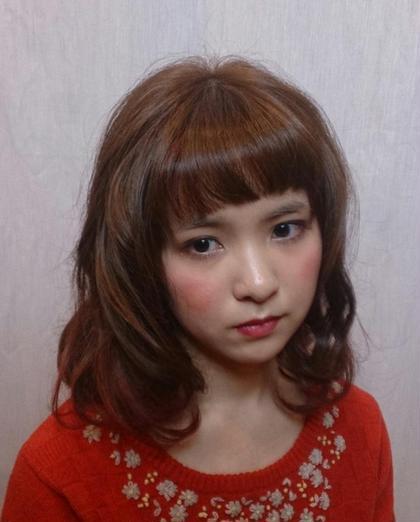 さりげなく入れたポイントカラーがオシャレ☆ あなたのイメージやなりたい私!教えて下さい☆ H//M hair所属・森哲也のスタイル