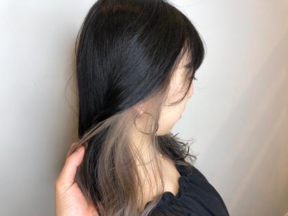 【人気No.4】《個性とオシャレ♪》インナーデザインカラー+シルクトリートメント(ブリーチ込み)
