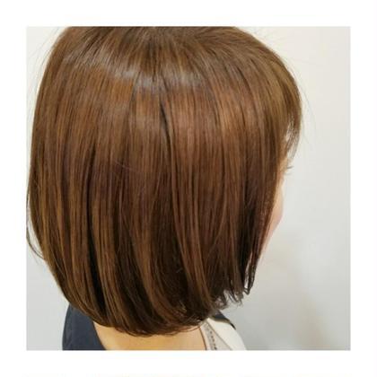 前上がり丸みボブ◎◎ &赤みを抑えたナチュラルベージュカラー☺💓 knot hair&products所属・佐藤晶帆のスタイル