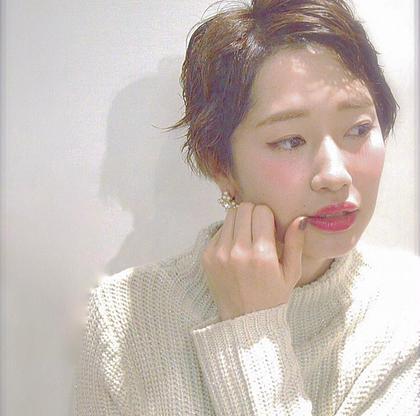 ハンサムショート☝︎ ウェッティなジェルワックスで前髪を立ち上げて☺︎ kitchen所属・Rui♡のスタイル