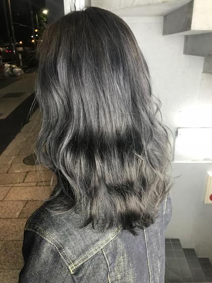 グレージュカラー 店長シマザキ タツヤ☆のロングのヘアスタイル