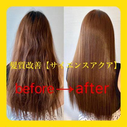 💕『髪質改善パーフェクトコース』カット&サイエンスアクア&カラー&Oggiotto8stepトリートメント💕