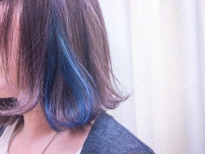 インナーカラーで少し個性的に!  髪を巻いた時に少し出すとオシャレ感アップ VIRGO所属・齋藤隆成のスタイル