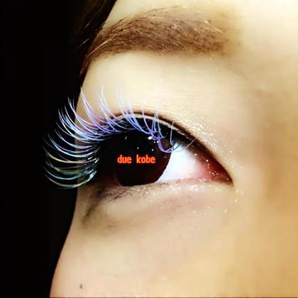 フルカラー アナ雪風❅*॰ॱ 全体的にアイスブルーとパステルパープルMix 目尻にはアクアブルーにロイヤルミルクティーとオレンジを数本ずつお付けさせて頂きました♪ Frill Eye Beauty 神戸元町店所属・FrillEye Beautyのフォト