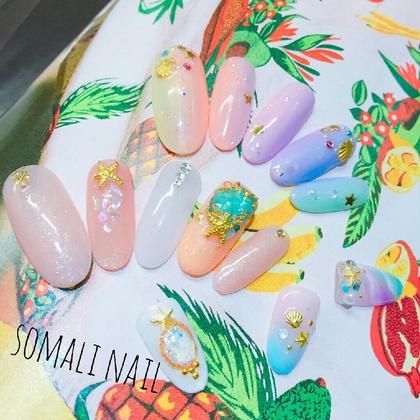夏の新作アート♪ nailsalon somali所属・nailsalonsomaliのフォト