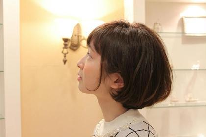あごラインのショートボブです。 HAIR JENNY所属・芦田武栄のスタイル