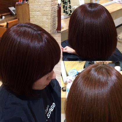 レッドヴァイオレットでツヤ感出して髪を綺麗に見せましょう( ;´Д`)✨ HairLogia所属・伊藤雄哉のスタイル