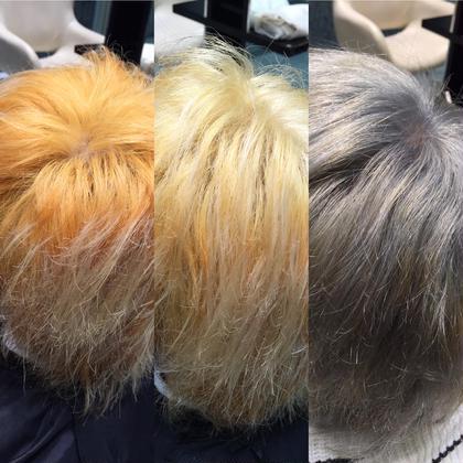 その他 カラー セミロング ミディアム ロング ビフォー&アフター☆  ブリーチ2回してオンカラー❤︎