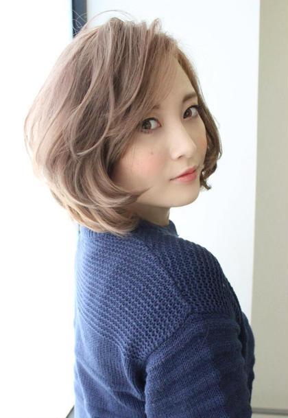 外国人風カラー ショートボブ★  透明感のある ふんわりとしたカラーが スタイルのポイントです! hair x nail Park所属・野村由里香のスタイル