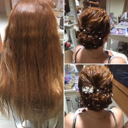 ヘアアレンジ ロング スーパーロング まとめ髪