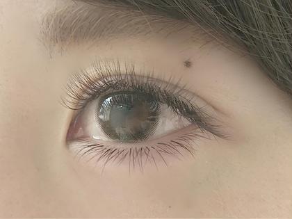 Cカール0.07㎜×10,11㎜ Jカール0.07㎜×12㎜ ダークブラウン使用 全500本(片目250本) eyelashsalonLutena所属・齋藤麗水のフォト
