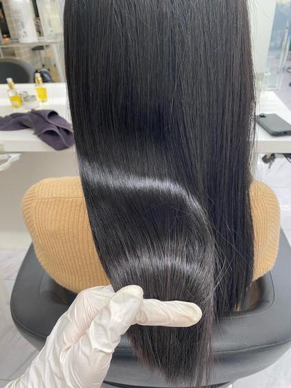 大人気髪質改善+【黒染めを使わないケアカラー】黒染めしたくないけど暗くしたい方にオススメ!暗染め+髪質改善トリートメント