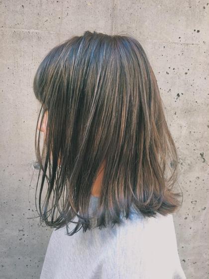 大人気イルミナカラー  ブリーチなしで透明感+いい色  是非一度お試しください♩ AUBE harajuku所属・オギノミワコのスタイル