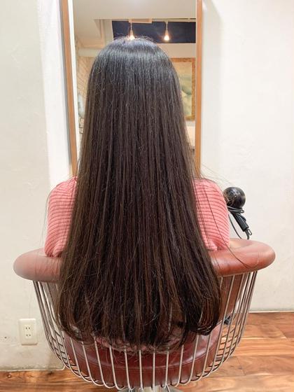 🉐縮毛矯正+カット✂︎✂︎✨うねりとボリューム抑えてまとまる髪に💐自然な仕上がりに🌸