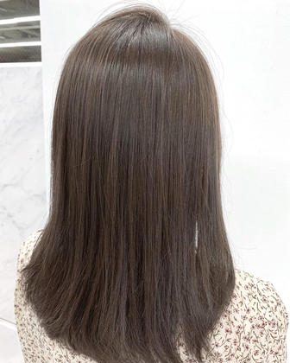 🦋赤味ゼロのつや髪🦋【アッシュ系カラー】+【カット】🌈